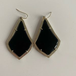 Black and gold Kendra Scott earrings